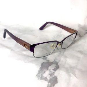 Dior glasses w prescription lenses brown red